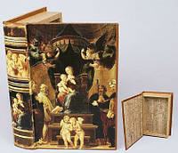 Шкатулка книга деревянная