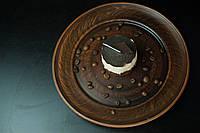 Круглая тарелка+красная глина 200мм