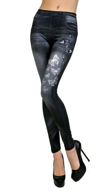 Леггинсы под джинс темные