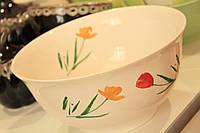 Большая пиала с тюльпанами