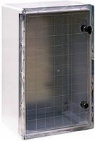Шкаф ударопрочный из АБС-пластика e.plbox.500.700.245.tr, IP65 с прозрачной дверцей, фото 1