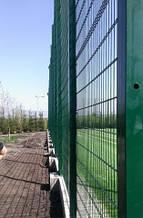 Сетка сварная оцинкованная с полимерным покрытием Кольчуга 6/5/6. Панельные заборные сетки.