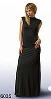Длинное черное платье (р. S,M) арт. 6035