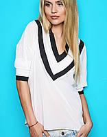 Белая блузка с черным кантом (Ocean sk)