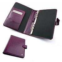 Кожаная папка для документов, место для визиток и держатель для ручки