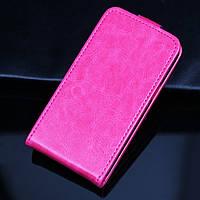 [ Чехол-флип Samsung Galaxy J1 J100 ] Ярко розовый флип-чехол на Самсунг