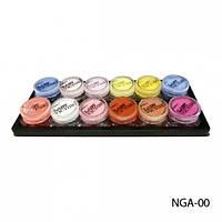 Набор акриловых пудр из 12 цветовых оттенков