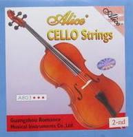 """Alice A803 -2 вторая струна """"D"""" для виолончели, никель  серебро"""