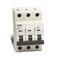 Автоматический выключатель Viko трехполюсный 25А 4VTB-3C25