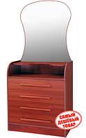 Комод Барклай с зеркалом (4 ящика) МДФ-ручка