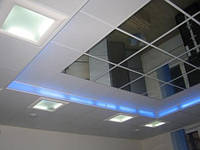 Панели потолочные металлические армстронг. Зеркало