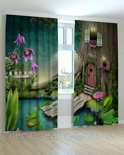 Фотошторы в детскую домик в дереве