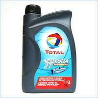 Масло для двухтактных двигателей лодочных моторов TOTAL NEPTUNA 2T SUPER SPORT  канистра 1л