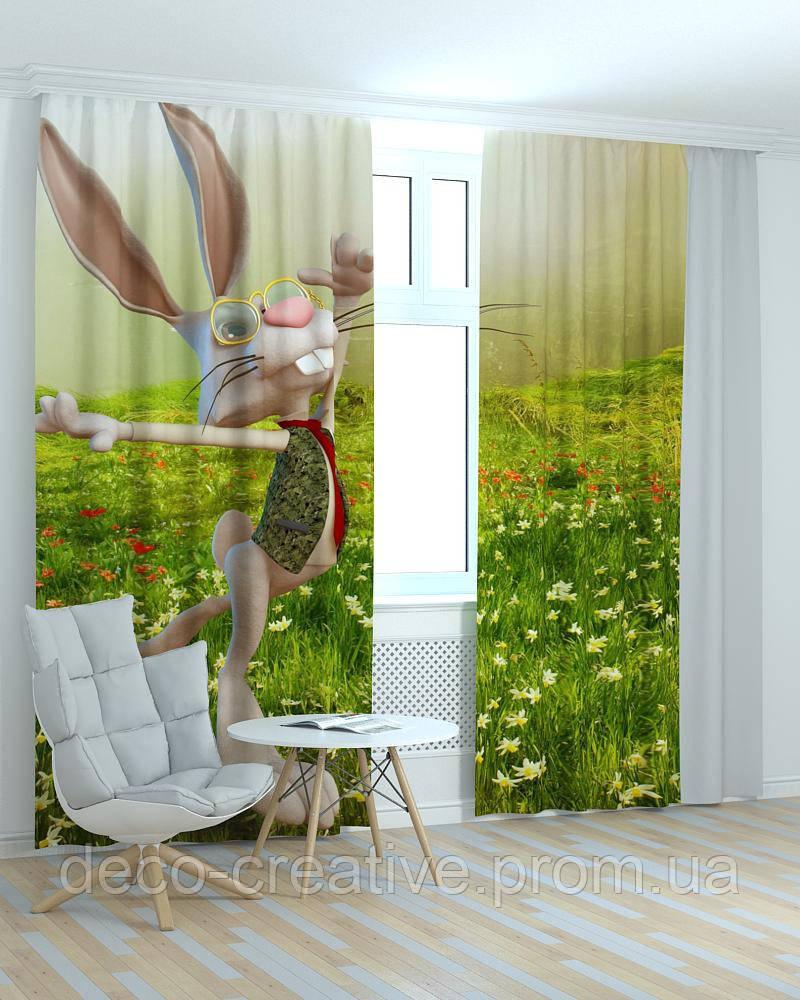 Фотошторы в детскую кролик