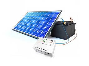 Комплект автономной солнечной электростанции, мощность 200 Вт