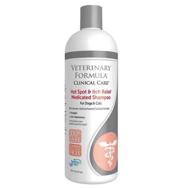 Veterinary Formula АНТИАЛЛЕРГЕННЫЙ Hot Spot&Itch Relief Shampoo шампунь для собак и кошек
