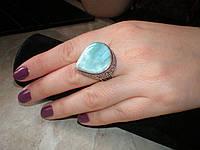 Кольцо с ларимаром в античном стиле 18 р