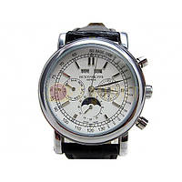 Мужские классические часы Patek Philippe Grand Complications Perpetual Calendar White Silver, фото 1