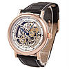 Мужские часы скелетон Breguet Skeleton Silver