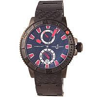 Стильные наручные часы Ulysse Nardin Maxi Marine Diver Black Sea 200m, фото 1