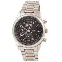 Мужские классические часы Longines Master Collection Black Silver, фото 1