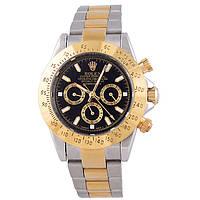 Мужские стильные часы Rolex Daytona Gold Silver, фото 1
