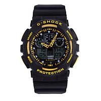 Распродажа! Спортивные часы Casio G-Shock ga-100 Black-Уellow
