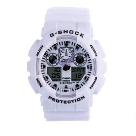 Спортивные наручные часы Casio G-Shock ga-100 White Касио реплика