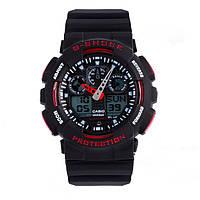 Спортивные наручные часы Casio G-Shock ga-100 Black-Red Касио реплика