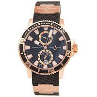 Стильные наручные часы Ulysse Nardin Maxi Marine Diver Black Gold, фото 1