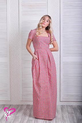 Платье макси в клеточку, фото 2