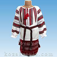 Український костюм з 3-х предметів на дівчинку 6-11 років