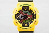 Распродажа! Яркие спортивные часы Casio G-Shock ga-110 Yellow-Khaki, фото 1