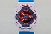 Распродажа! Яркие спортивные часы Casio G-Shock ga-110 Azure-White