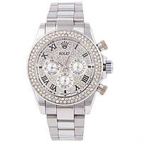 Стильные женские часы Rolex Daytona Silver