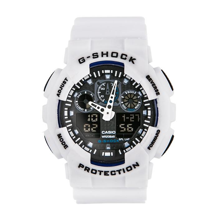 Спортивные наручные часы Casio G-Shock ga-100 White-Black Касио реплика - dd821348e858e