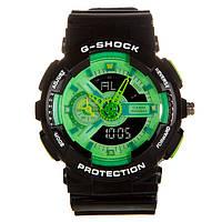 Распродажа! Яркие спортивные часы Casio G-Shock ga-110 Black - Green