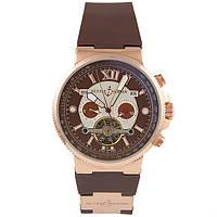 Наручные часы Ulysse Nardin Maxi Marine Chronograph White Brown, фото 1