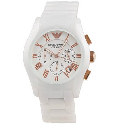 Наручные мужские часы Armani Ar1416 White Ceramic реплика, фото 2