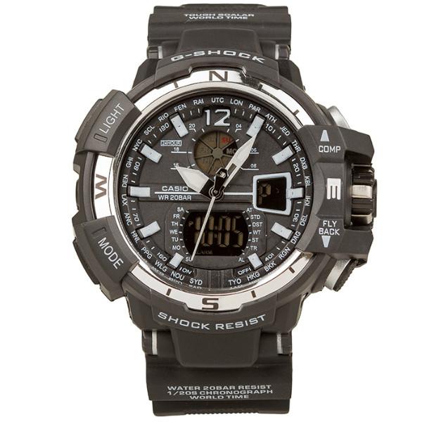 Спортивные наручные часы Casio Касио G-Shock GWA-1100 Black White Касио реплика