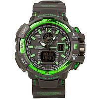 Распродажа! Спортивные часы Casio G-Shock GWA-1100 Black-Geen