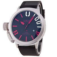 Стильные мужские часы U-boat Italo Fontana Silver Red, фото 1