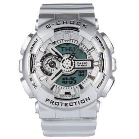 Мужские Электронные Японские Наручные Спортивные часы Sport watch Casio G-Shock GA 110 Silver Копия