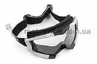 Очки кроссовые   (mod:MJ-1017, черные, прозрачное стекло)