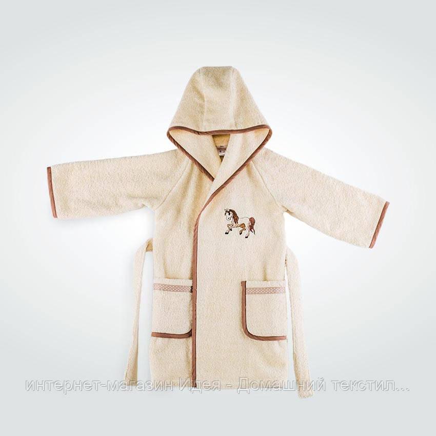 2294ca36807f Детский махровый халат с капюшоном цвет молоко - интернет-магазин Идея -  Домашний текстиль от