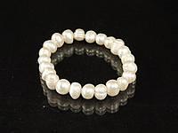 Браслет з річкового дрібних перлів на гумці, фото 1