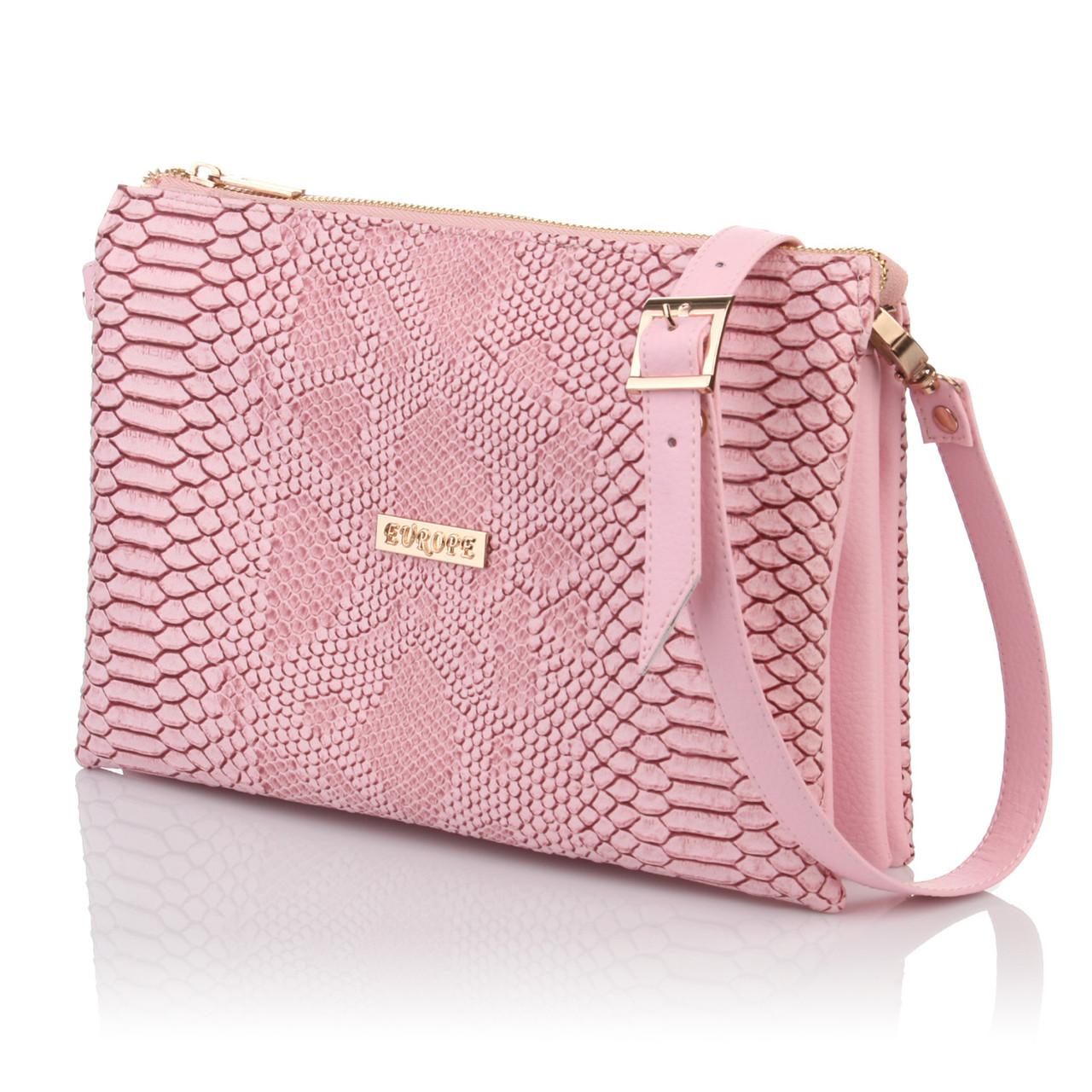 Розовая сумочка-клатч имитация кожи змеи - Интернет магазин сумок SUMKOFF -  женские и мужские 8bb1ff61e02