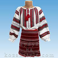 Український костюм з 2-х предметів на дівчинку 6-11 років