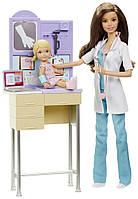 Набор кукла Барби врач педиатр с аксессуарами Barbie