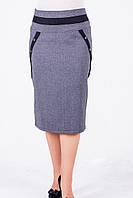 Оригинальная женская юбка длина миди